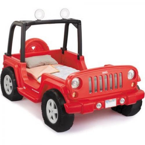 Red Jeep Bed